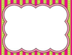 Striped Frames **BRIGHT COLLECTION**
