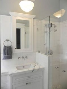 Update your bathroom decor in no time with these affordable, cute half bathroom ideas. Half bath decor, Half bathroom remodel and Half bath remodel. Half Bathroom Remodel, Bathroom Renovations, Bathroom Remodelling, Simple Bathroom, Master Bathroom, Bathroom Ideas, Half Bath Decor, Small Half Bathrooms, Bathroom Design Layout