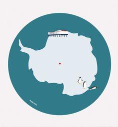 Beispiel-Teppich Antarktis – Bodenschätzchen I Individuelle Kinderteppiche selbst gestalten