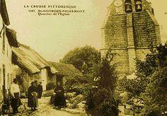 """St georges Nigremont au debut du XXe- CLOTAIRE 1° 2)Biographie 2.6 RENFORCEMENT DES ALLIANCES. 6.2.3: MISE SOUS TUTELLE DE L'AUVERGNE, 7: Ils se rendent alors en Auvergne, près de Limoges, et enfin retrouvent CHRAMN à St-GEORGES-NIGREMONT, dans le canton de Crocq, dans l'actuelle département de la Creuse. Leurs armées se font face au pied d'une """"montagne noire"""" où ils incitent Chramn à rendre les terres appartenant à leur père."""