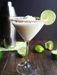 This Key Lime Pie Martini is sinfully delightful!. If you enjoy the pie as much as I do, then you MUST try this today in honor of Saturated Saturday!