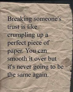 I'm living this one. How do you give the trust back?