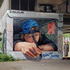 Streetart – Braga @ Nantes, France- Streetart – Braga @ Nantes, France Nantes, France: new mural by Braga for Festival Hip Opsession - 3d Street Art, Murals Street Art, Urban Street Art, Best Street Art, Amazing Street Art, Art Mural, Street Art Graffiti, Street Artists, Graffiti Artists