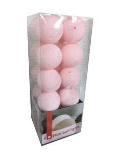 roze Cotton Ball Lights Lichtslinger.