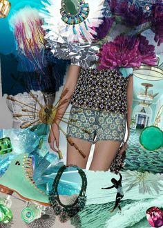 P.S.- I made this... Embellished Short  #DIY #Inspiration