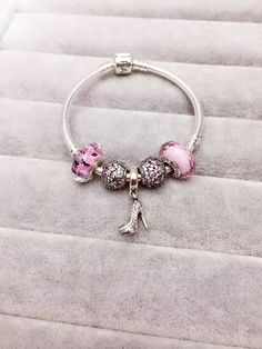 50% OFF!!! $159 Pandora Charm Bracelet Pink. Hot Sale!!! SKU: CB01636 - PANDORA Bracelet Ideas