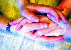 Healing hands. An image I crated to illustrate an interview with a healer as research for my new novel.