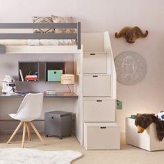 Cool Asoral Hochbett LOFT XL LISO mit Treppe Schreibtisch Stauraum Schubladen H he cm