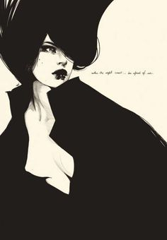 """""""When the night comes...be afraid of me"""" ... Illustration by Manuel Rebollo."""