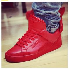 Louis Vuitton Red badass sneakers. Hell yes