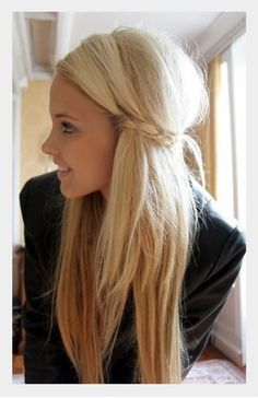 so cuteee. i wanna do this to my hair.