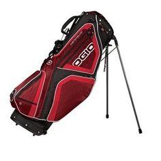 New Ogio - Vaporlite Stand Golf Bag Garnet/fire-osfa Ogio Golf Bags, Golf Carts, Garnet, Nike, Sports, Outdoors, Places, Food, Granada