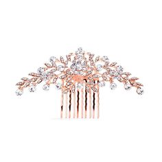 Rose gold bridal hair comb Wedding hair comb by TheExquisiteBride, $50.00