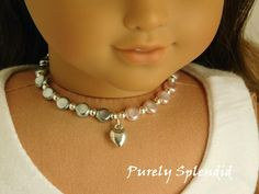 Necklace Earrings for 18 in American Girl Doll Jewelry Handmade Accessory