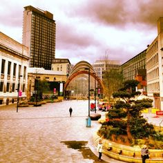 This is a different perspective of Sheffield to what you usually see. Taken from the Crucible Theatre