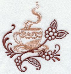 Coffee Cup Echo design (H3768) from www.Emblibrary.com