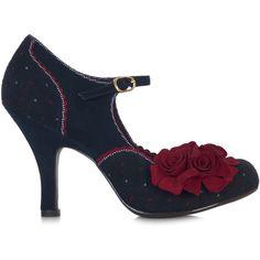 Ruby Shoo ASHLEY Vintage FLORAL Brocade RIEMCHEN Heels PUMPS