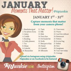 January Photo Journaling for Your Camera Phone ~ Join Us! {photo journal prompt}