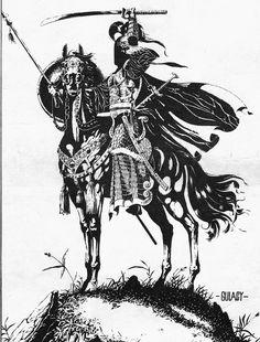 Samurai illustration by Paul Gulacy.
