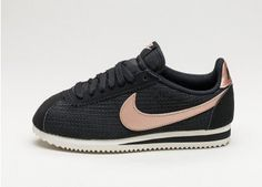 Nike Wmns Classic Cortez Leather Lux (Black / Metallic Red Bronze - Sail)