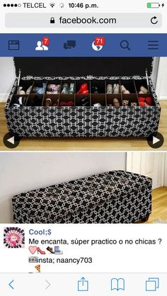 Small Apartments, Bench With Shoe Storage, Diy Shoe Storage, Creative Storage, Entryway Shoe Storage, Creative Ideas, Storage Ideas, Organizing Shoes, Closet Organization