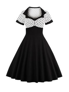 Cheap vestidos mujer, Buy Quality sexy party dress directly from China dresses retro Suppliers: 2018 Summer Women Dress Retro Dress Female Polka Dots Pinup Rockabilly Sexy Party Dresses Vintage Tunic Vestidos Mujer Look Retro, Look Vintage, Vintage Heart, 50s Vintage, Vintage Hollywood, Robes Vintage, Vintage Dresses, 1950s Dresses, Pin Up Dresses