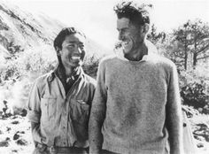 First to the top of Mount Everest: Sir Edmund Hillary and Tenzig Norgay