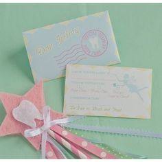 Tooth Fairy Customized Printable Letter and Envelope