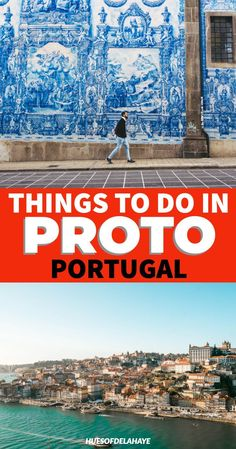How to spend a weekend in Porto Portugal? This 2 days in Porto itinerary has top things to do in Porto like cruising the Douro River, famous azulejos tiles Sintra Portugal, Visit Portugal, Spain And Portugal, Portugal Travel Guide, Europe Travel Guide, Europe Destinations, Travel Guides, Traveling Tips, Algarve