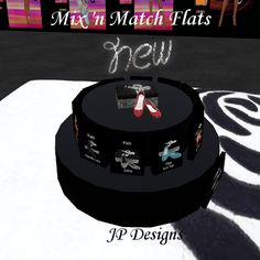 Check out JP Designs new Mix 'n Match Flats at our main store on Neah Bay Neah Bay, Mesh Clothing, Mix N Match, Birthday Cake, Store, Check, Design, Birthday Cakes, Larger