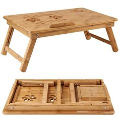new-Bamboo-Bed-Tray-Table-Height-Adjustable-Home-Bedroom-Lap-Desk-Laptop-Holder