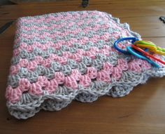crochets blankets for, littlr girls | baby girl blanket crochet granny stripe by DonnasPinsandNeedles, $34 ...