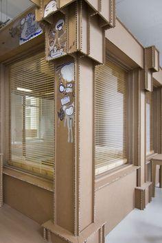 nothing cardboard office interior by alrik koudenburg and joost van bleiswijk homedsgn cardboard office furniture