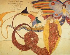 Henry Darger, painting, drawing, mixed media collage