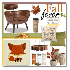 """Fall Fever"" by truthjc ❤ liked on Polyvore featuring interior, interiors, interior design, home, home decor, interior decorating, Arteriors, Howard Elliott, Cyan Design and Dot & Bo"
