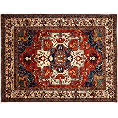 Darya Rugs Ziegler Hand-Knotted Red Area Rug