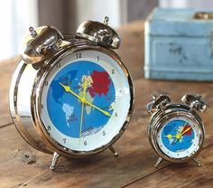 Perfect clock for the table next to his rocker, perfect not only for the nautical sailing theme but also because it won't have a bright light as he sleeps. #potterybarnkids