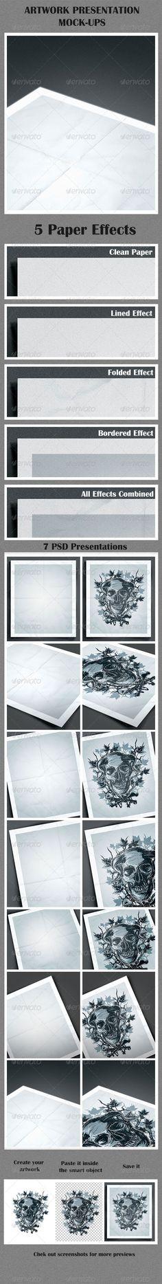 Artwork Presentation Mock-Ups - Print Product Mock-Ups