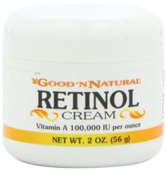 Retinol Cream (Vitamin A Iu Per Ounce) - 2 Oz by Good 'N Natural Stimulate Skin Generate Collagen and Hyaluronic Acid, Slough off the Dead Skins Cells, Fade Patches of Hyperpigmentation, Decreasing Oil Production Vitamin A Cream, Retinol Cream, Face Tips, Hyaluronic Acid, Good Skin, Collagen, Body Care, Vitamins, The 100