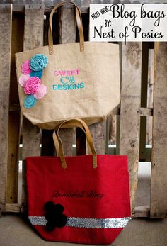 personalized blog bags by @Kellie Dyne~Nest of Posies