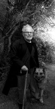 """""""There must be more to life than having everything.""""  ~ Maurice Sendak and his German shepherd Herman, named after Melville, photographed at Sendak's house in Ridgefield, Connecticut www.vanityfair.co..."""