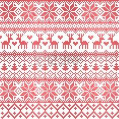 Vector Illustrated Traditional Red Nordic Pattern Royalty Free Cliparts, Vectors, And Stock Illustration. Image Traditional Red Nordic Pattern Royalty Free Cliparts, Vectors, And Stock Illustration. Motif Fair Isle, Fair Isle Chart, Fair Isle Pattern, Cross Stitch Borders, Cross Stitching, Cross Stitch Embroidery, Cross Stitch Patterns, Fair Isle Knitting Patterns, Knitting Charts