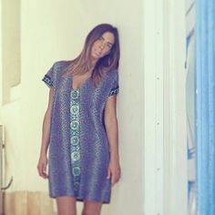 Women Kaftan Dress Caftan DressWomen Dress Blue Dress by myscarlet, $