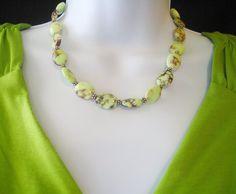 Lemon Magnesite Necklace by MyGemstoneDesigns on Etsy, $65.00 #lacwe #onfireteam
