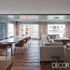 Projeto de interiores assinado pelo escritório Meireles + Pavan Arquitetura atende as solicitações da jovem proprietária que almejava espaços mais amplos e aconchegantes.