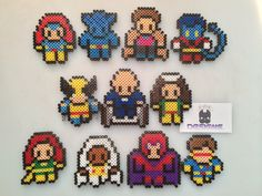 Marvel XMen Mini Perler Bead Sprite Art Magnets/Car by SDKD, $3.00