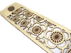 Metallic gold leather cherry blossom laser cut by EmilydeMolly, $38.00