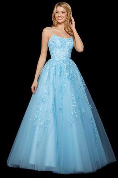 Pretty Prom Dresses, Sherri Hill Prom Dresses, Sweet 16 Dresses, Prom Dresses Blue, Pageant Dresses, Homecoming Dresses, Beautiful Dresses, Princess Prom Dresses, Pastel Prom Dress