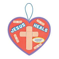 Jesus Heals Sign Craft Kit - OrientalTrading.com