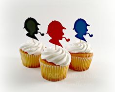 Escape Room Party: Detective Cupcake toppers from Patty Antle's Prettys
